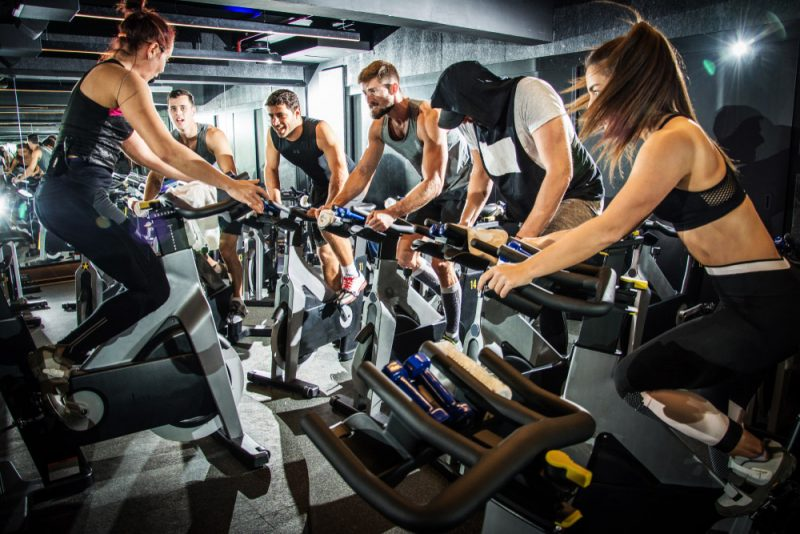Bike fitness party
